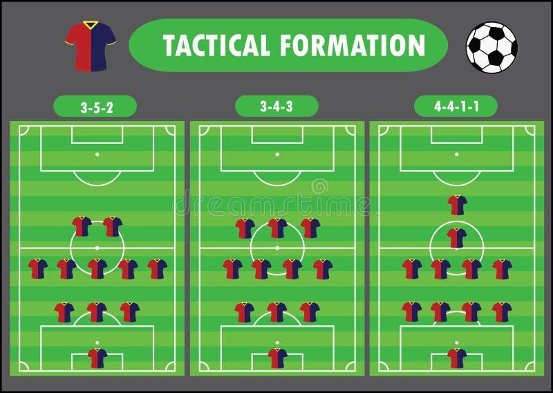 De vorming van het voetbalteam royalty-vrije illustratie