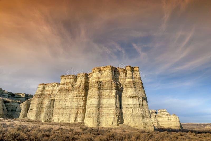 De pijlers van Rome Oregon bij zonsondergang royalty-vrije stock foto
