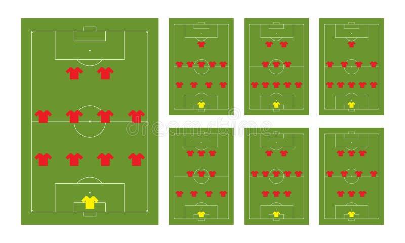 De vormingen van de voetbal stock foto