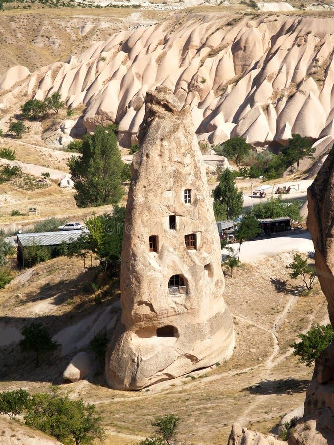 De vormingen van het zandsteen in Cappadocia royalty-vrije stock afbeelding