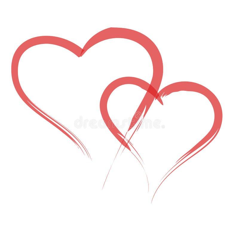 Download De Vormontwerp Van Het Hart Voor Liefdesymbolen Vector Illustratie - Illustratie bestaande uit frame, grungy: 107701064