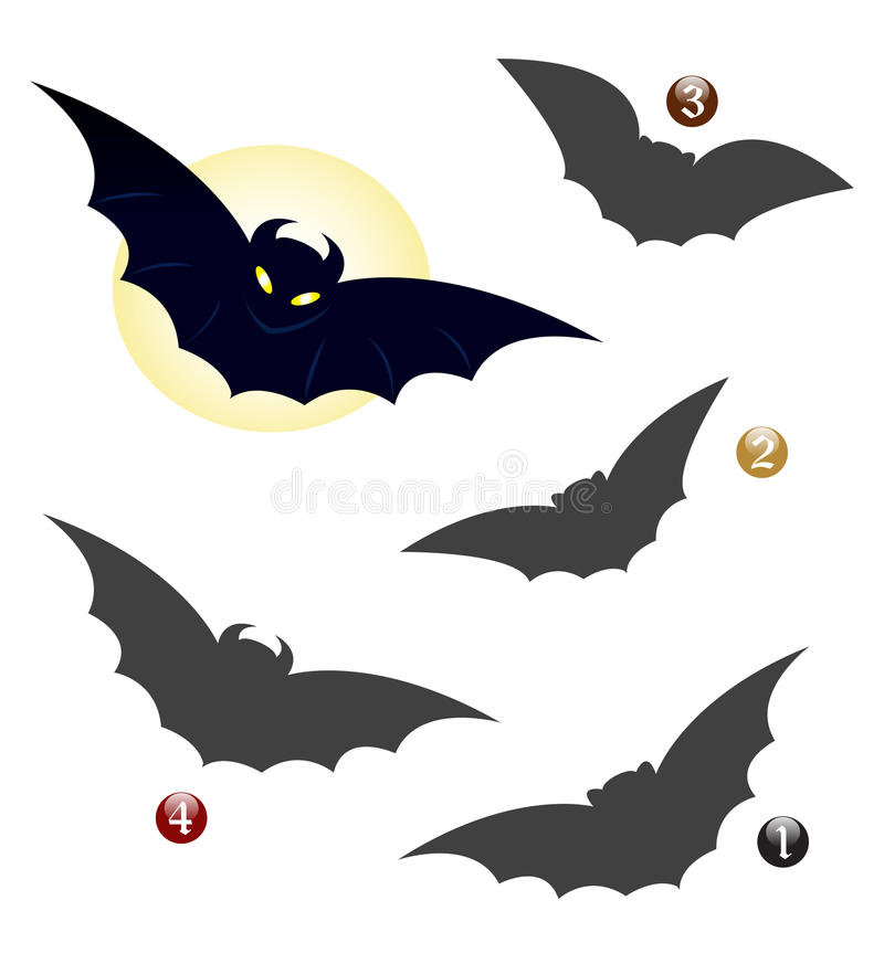 De vormspel van Halloween: de knuppel royalty-vrije illustratie