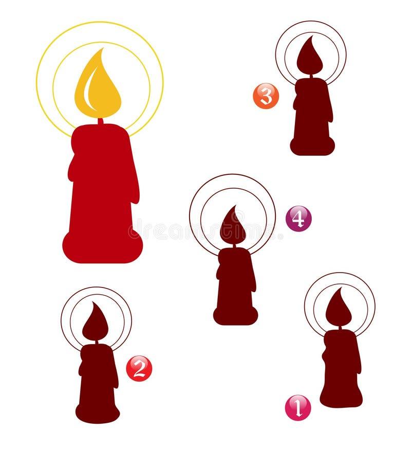 De vormspel van Kerstmis: kaars vector illustratie