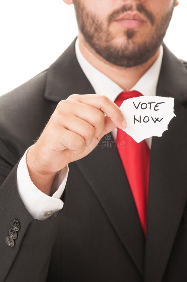 De vote concept maintenant image libre de droits
