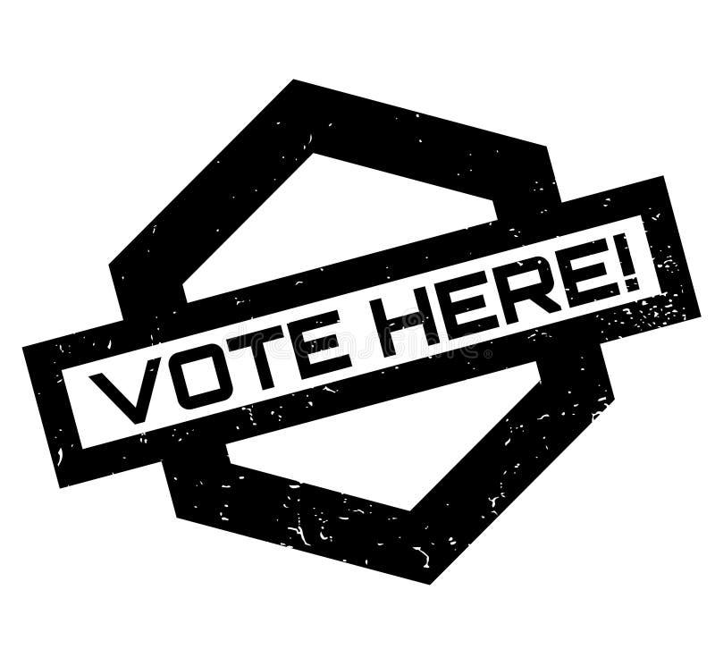 De vote tampon en caoutchouc ici illustration libre de droits