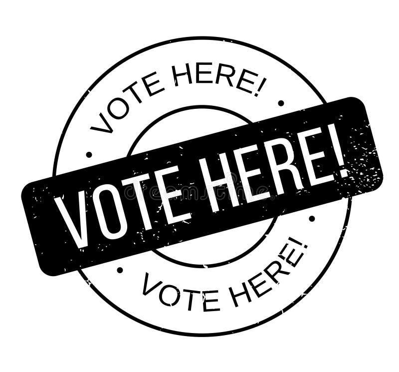 De vote tampon en caoutchouc ici illustration stock