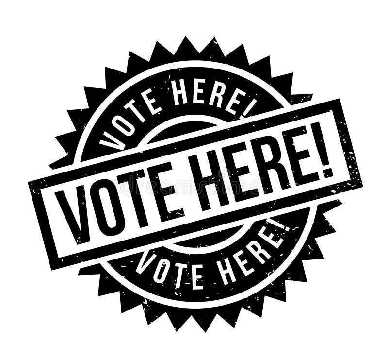 De vote tampon en caoutchouc ici illustration de vecteur