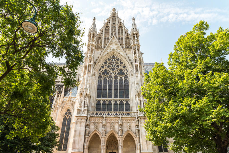 De Votive Kerk in Wenen stock afbeelding
