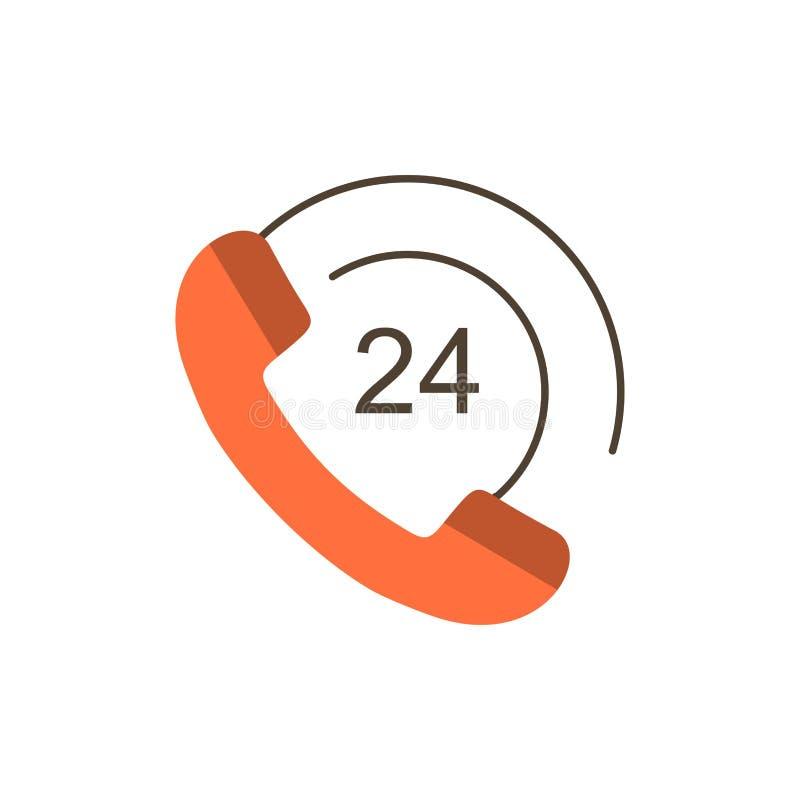 De vraag, Mededeling, Telefoon, steunt Vlak Kleurenpictogram Het vectormalplaatje van de pictogrambanner vector illustratie