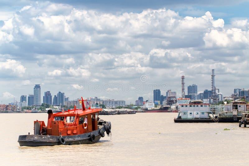 De vrachthaven van Bangkok stock afbeeldingen