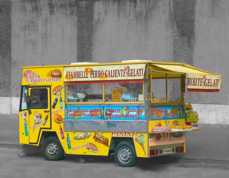 De Vrachtwagen Rome Italië van de voedselsnack royalty-vrije stock foto