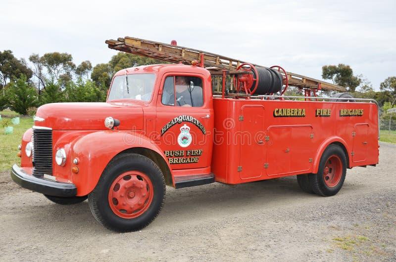De vrachtwagen van de brand op stormloop royalty-vrije stock afbeeldingen