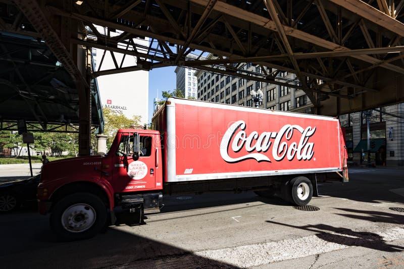 De Vrachtwagen van de coca-cola royalty-vrije stock afbeeldingen