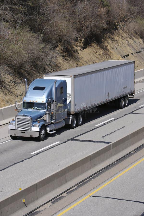 De Vrachtwagen van de Aanhangwagen van de tractor royalty-vrije stock foto's