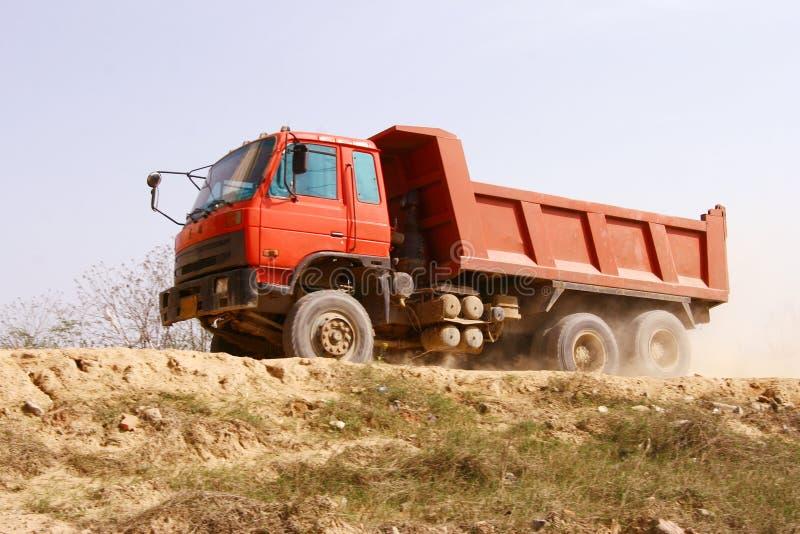 De vrachtwagen van de bouw royalty-vrije stock afbeelding