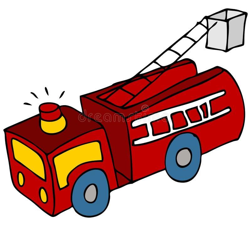 De Vrachtwagen van de brand stock illustratie