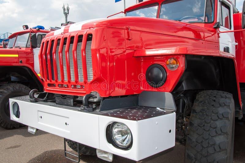 De vrachtwagen van de brand op stormloop royalty-vrije stock afbeelding