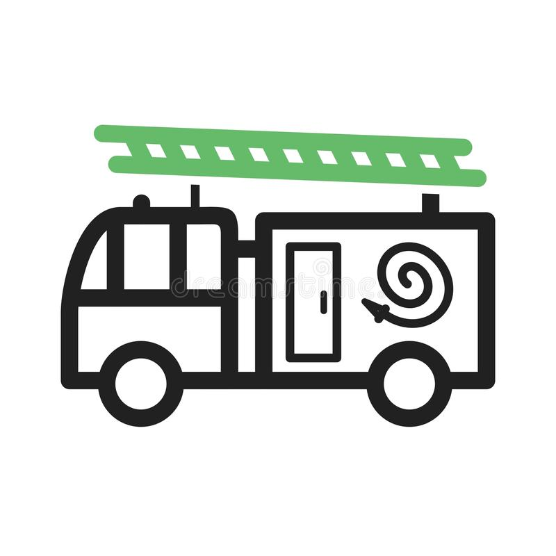 De vrachtwagen van de brand op stormloop royalty-vrije illustratie
