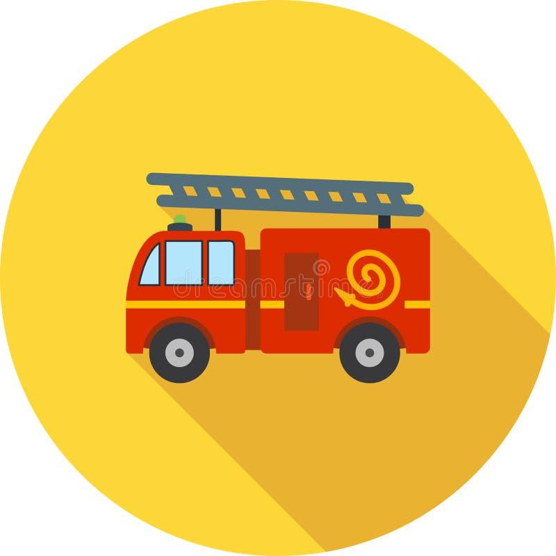 De vrachtwagen van de brand op stormloop vector illustratie