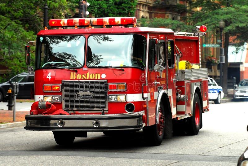De Vrachtwagen van de Brand van Boston stock foto