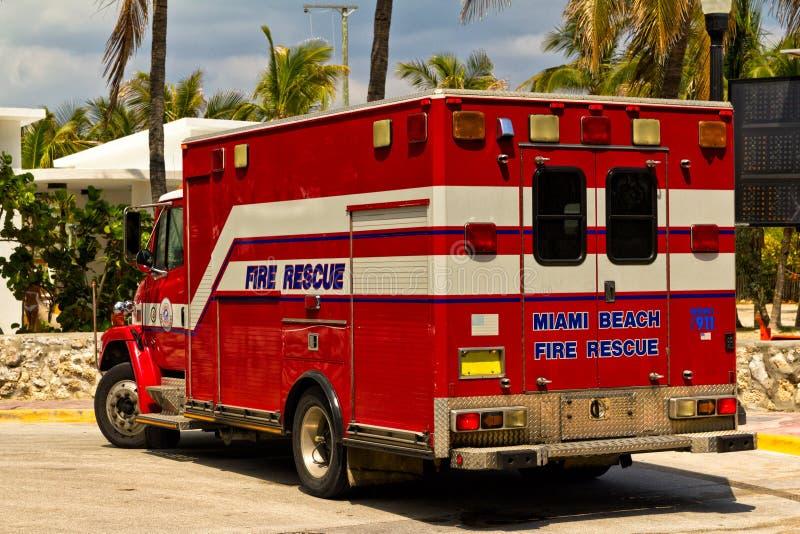 De Vrachtwagen van de brandredding royalty-vrije stock afbeelding