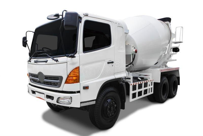 De Vrachtwagen van de cementmixer stock foto
