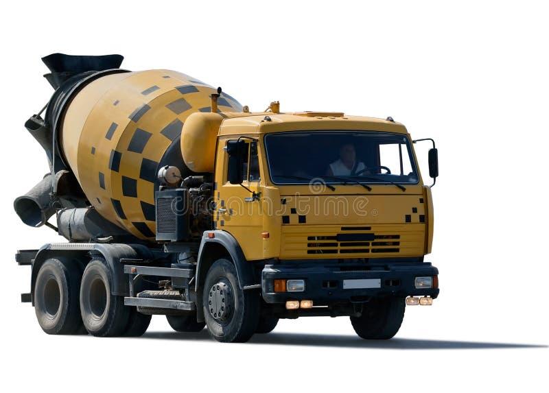 De vrachtwagen van de cementmixer stock afbeeldingen