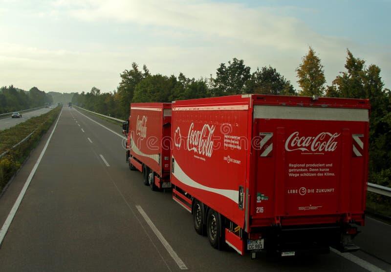 De Vrachtwagen van de coca-cola royalty-vrije stock foto's