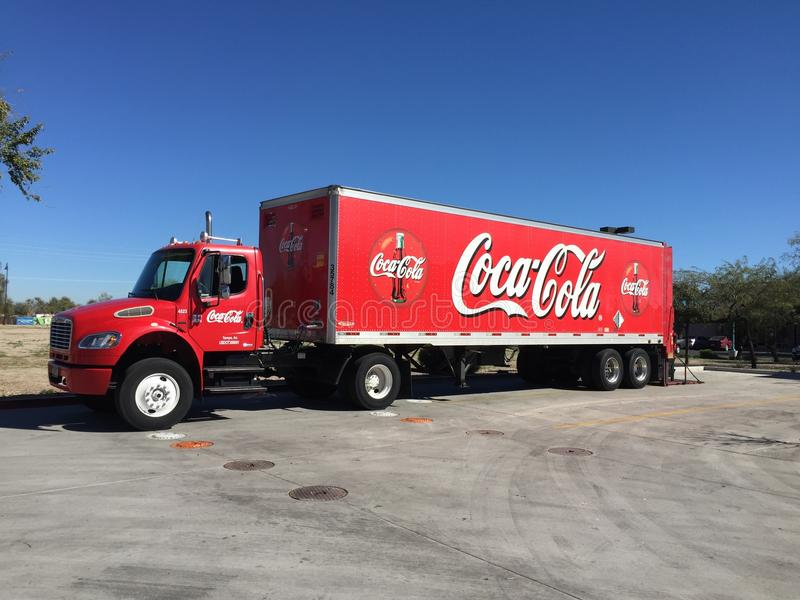 De Vrachtwagen van de coca-cola stock fotografie