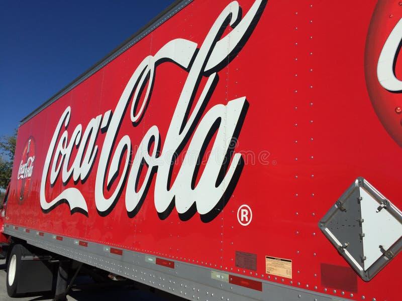 De Vrachtwagen van de coca-cola royalty-vrije stock fotografie