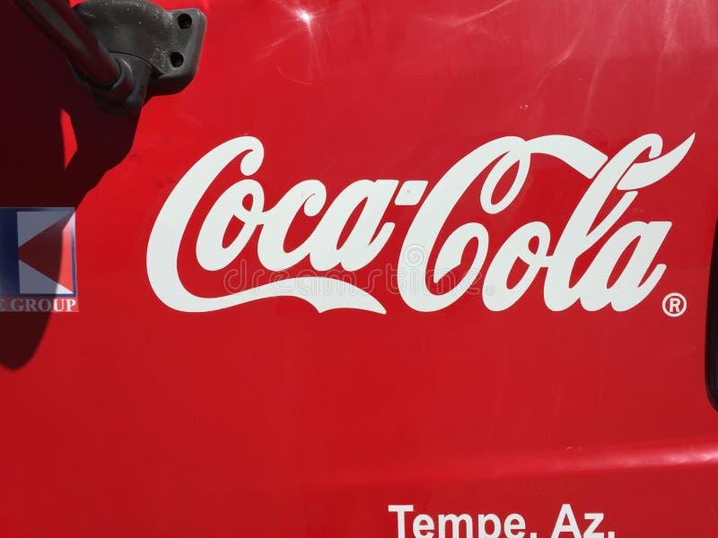 De Vrachtwagen van de coca-cola stock foto's