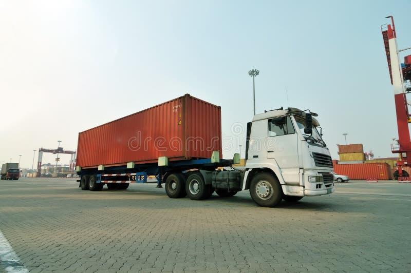 De vrachtwagen van de container royalty-vrije stock foto