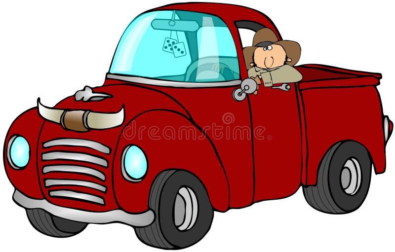 De Vrachtwagen van de cowboy vector illustratie
