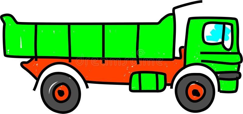 De vrachtwagen van de kipper royalty-vrije illustratie