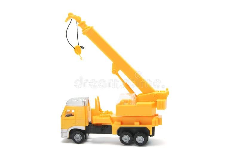 De Vrachtwagen van de Kraan van het stuk speelgoed stock foto's