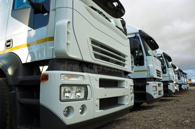 De Vrachtwagen van de lading stock foto