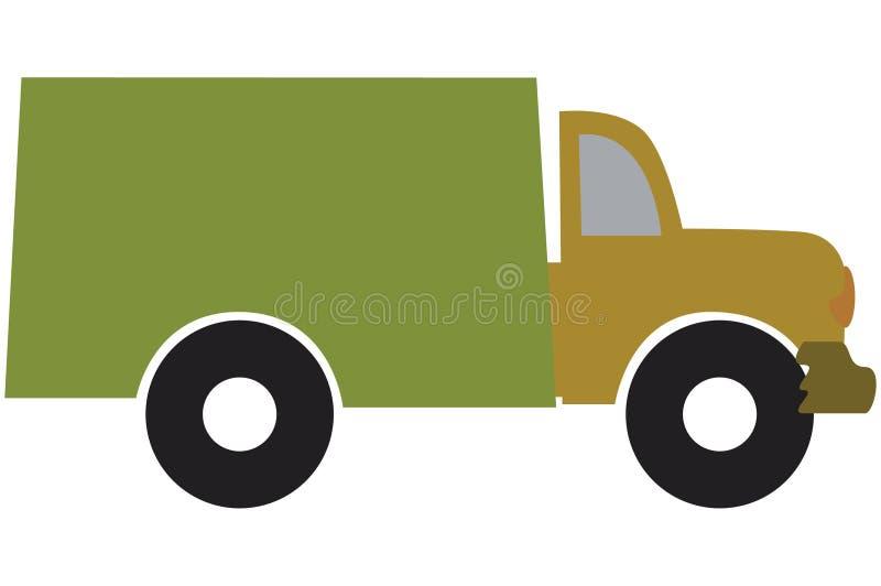 De vrachtwagen van de lading vector illustratie