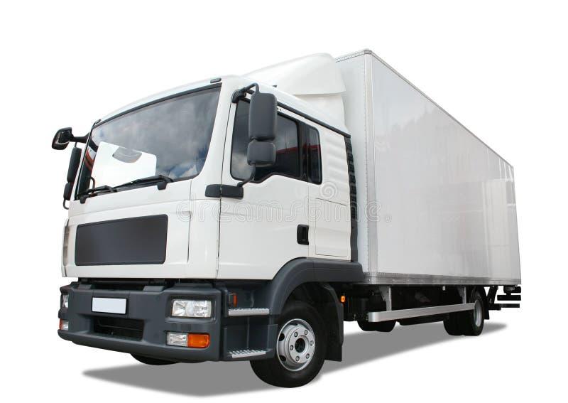 De vrachtwagen van de levering