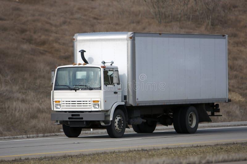 De Vrachtwagen van de Levering van de doos stock foto's