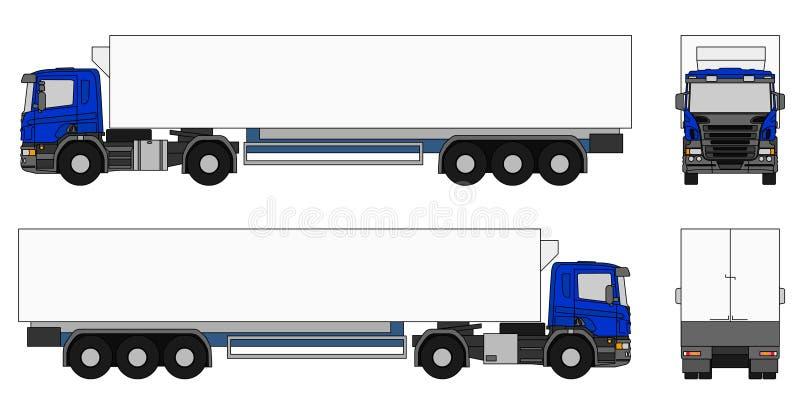 De vrachtwagen van de oplegger stock illustratie