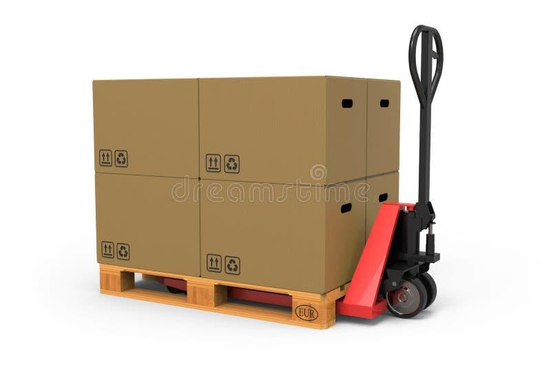 De Vrachtwagen van de Pallet van de hand royalty-vrije stock afbeeldingen