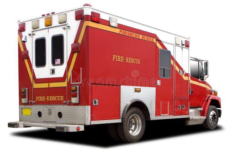 De Vrachtwagen van de Redding van de Brand van de ziekenwagen royalty-vrije stock afbeeldingen