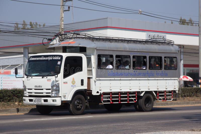 De Vrachtwagen van de schoolbus van de School van de Noordelijke regio voor Blinden royalty-vrije stock foto