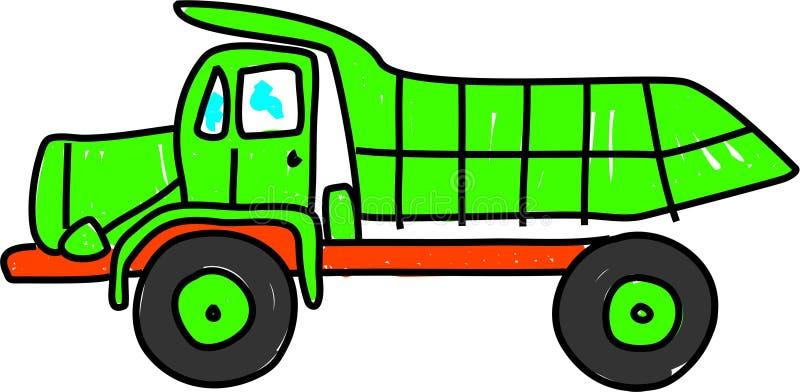 De vrachtwagen van de stortplaats stock illustratie
