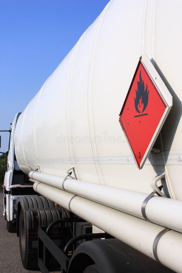 De vrachtwagen van de tanker royalty-vrije stock afbeelding