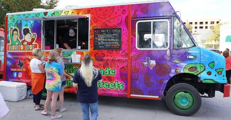 De vrachtwagen van Fort Worth Texas Food op het werk royalty-vrije stock foto