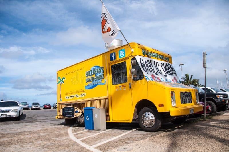 De vrachtwagen van het de Keetvoedsel van het Gilligansstrand stock foto's