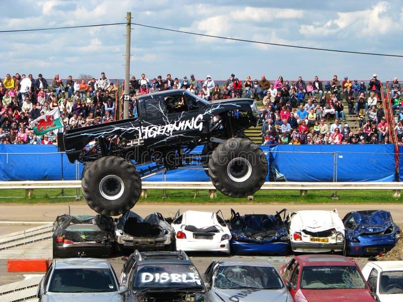 De Vrachtwagen van het Monster van de bliksem stock foto's