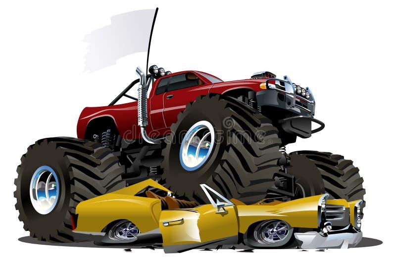 De Vrachtwagen van het Monster van het beeldverhaal stock illustratie