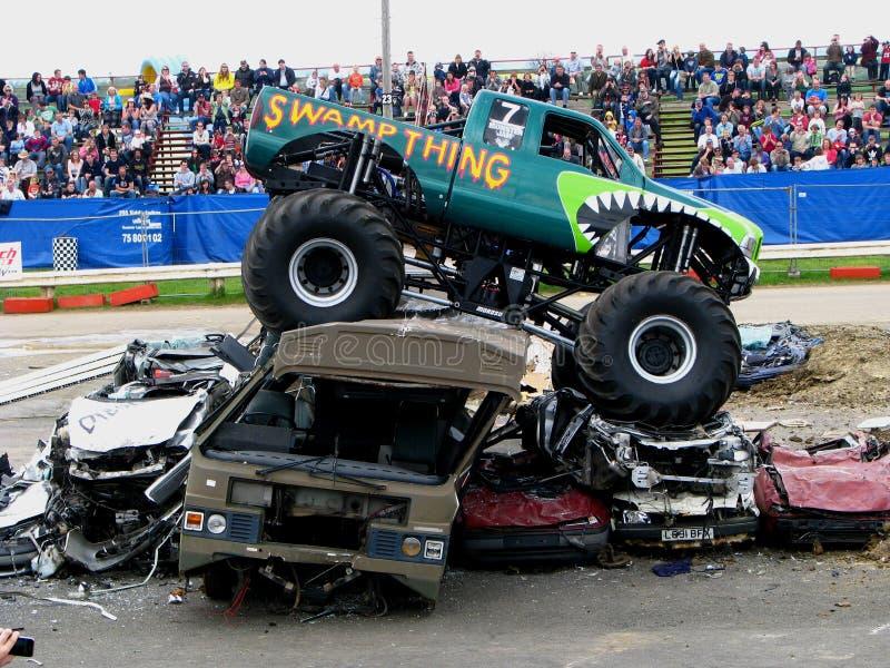 De Vrachtwagen van het Monster van Swampthing stock afbeeldingen